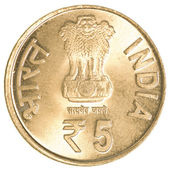 5 indian rupees coin — Stock Photo