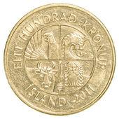 100 icelandic krona coin — Stock Photo