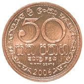 50 Sri Lankan rupee cents coin — 图库照片