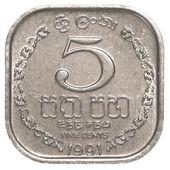 5 Sri Lankan rupee cents coin — Stock Photo