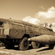 Old russian SCUD missile launcer — Stock Photo #37043709
