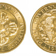 Stock Photo: Twenty five Bhutanese chhertum coin
