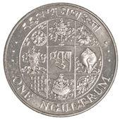 One Bhutanese ngultrum coin — 图库照片