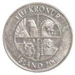Постер, плакат: 10 icelandic krona coin