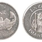 Постер, плакат: 1 icelandic krona coin