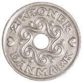 2 danish krone coin — Stock Photo