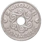 5 danish krone coin — Stock Photo