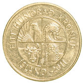 100 icelandic krona coin — Stock Photo