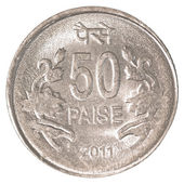 50 indian paise coin — Stock Photo