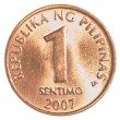Stock Photo: 1 Philippine sentimo coin