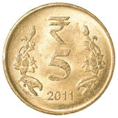 5 indische rupie-münze — Stockfoto