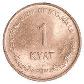 1 缅甸 (缅甸) 缅元硬币 — 图库照片