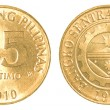 Stock Photo: 25 Philippine sentimo coin