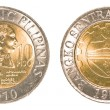 Stock Photo: 10 Philippine peso coin