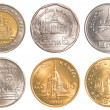 Thailand circulating coins collection set — 图库照片