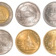 Thailand circulating coins collection set — ストック写真