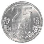 25 Moldovan bani coin — Stock Photo #40458173