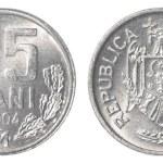 25 Moldovan bani coin — Stock Photo #40458555