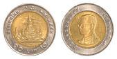 10 thai baht coin — Stock Photo