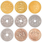 Denmark circulating coins collection set — Stock Photo