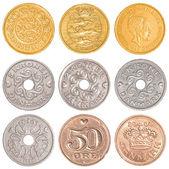 Denmark circulating coins collection set — Stock Photo