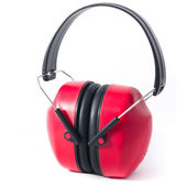 Red earmuffs — Stock Photo