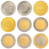 Mexico circulating coins — Stock Photo