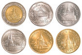 Thailand circulating coins collection set — Stock Photo