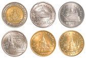 Thailand circulating coins collection set — Stock Photo