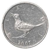 Eine kroatische kuna-münze — Stockfoto