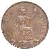 Alte britische penny-münze — Stockfoto