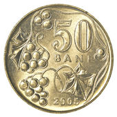 50 Moldovan bani coin — Stock Photo