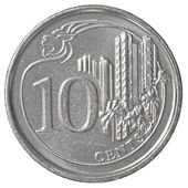 10 singaporean cents coin — Stock Photo
