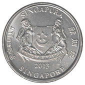 Singaporean cent coin — Stock Photo