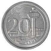 20 singaporean cents coin — Stock Photo