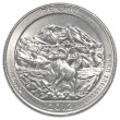 Stock Photo: Americone quarter coin - denali national park