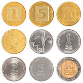 Israel circulating coins collection — Stock Photo