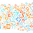Hebrew alphabet background — Stock Photo #48544641