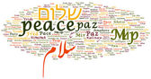 Peace in different languages — Stock Photo