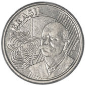 50 Brazilian real centavos coin — Stock Photo