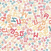 Thai alphabet texture background  — Stock Photo