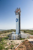 Neve Daniel water tower, west bank, israel — Stockfoto