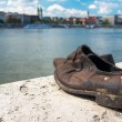 Shoes on the Danube Bank monument in Budapest, Hungary — Stock Photo