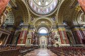 Interior of St. Stephen's Basilica, Budapest, Hungary — Stock Photo