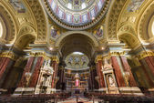 Interior of St. Stephen's Basilica, Budapest, Hungary — Foto Stock