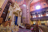 Dohany Street Synagogue (Great synagogue) interior in Budapet, H — Stockfoto
