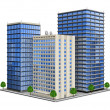 Stock Vector: Office Building