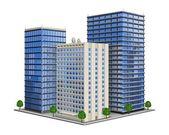 Office Building — Stockvektor