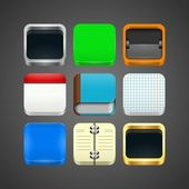 App Icons Templates — Stock Vector