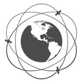 Satellite orbit — Stock Photo